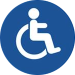 Blue Web Accessibility Icon